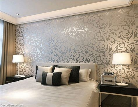 wall paper designs for bedrooms popular 3d design silver bedroom wallpaper modern style