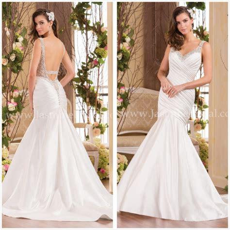 us beaded satin sleeveless dress aliexpress buy fantastic backless mermaid wedding