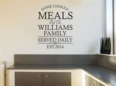 personalised wall sticker quotes personalised family kitchen wall quote wall sticker
