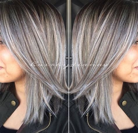 gray hair with lowlights best 25 gray hair transition ideas on pinterest going