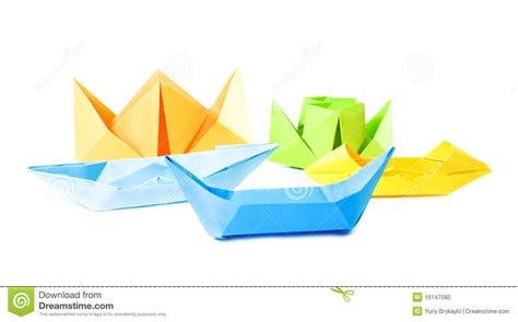 origami figure origami figure of boats stock photo image 16147580