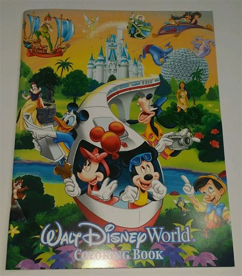 disney world picture book new walt disney world coloring book rides castle epcot