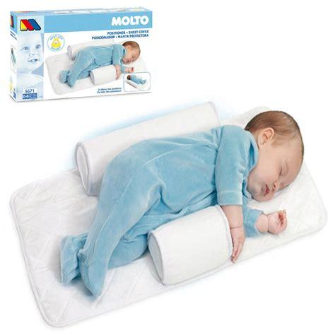 baby sleeps on side in crib molto baby infant newborn sleep positioner anti roll
