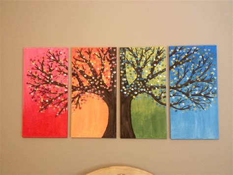 acrylic painting diy diy canvas painting of tree stuff to try