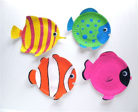 Paper Plate Tropical Fish Make And Takes