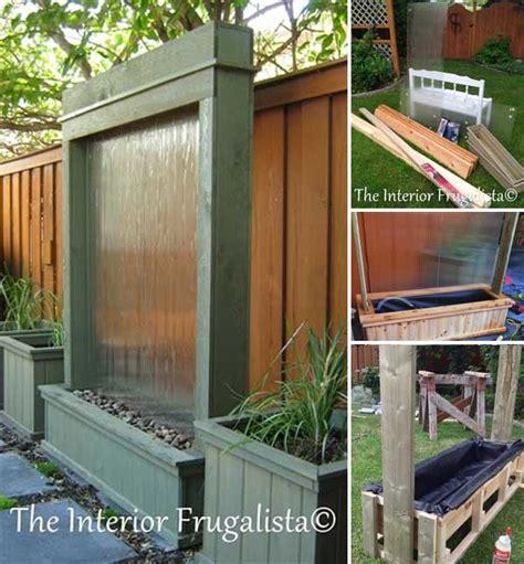 backyard feature wall ideas 26 wonderful outdoor diy water features tutorials and