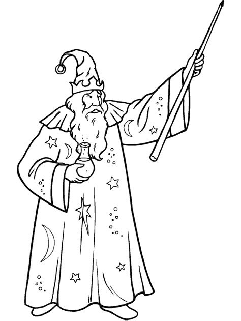 coloring book picture magician coloring pages coloringpages1001