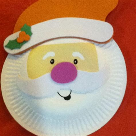 santa paper plate craft santa craft with paper plate crafts