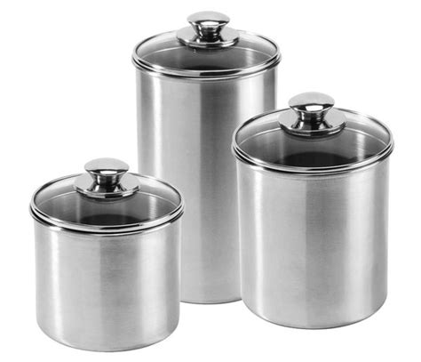 stainless steel kitchen canisters sets amco stainless steel canister set 3 cutlery and more