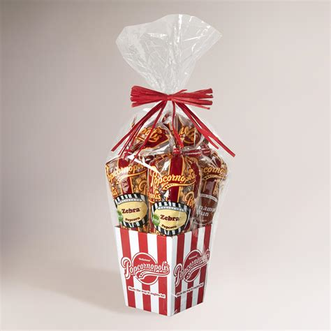 popcorn gifts popcornopolis 4 cone premium popcorn gift basket world