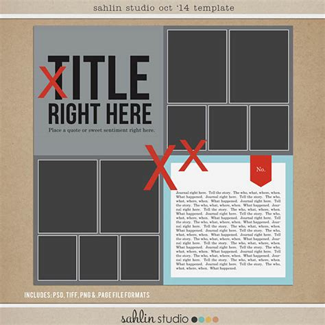 free digital scrapbooking template october 2014 sahlin