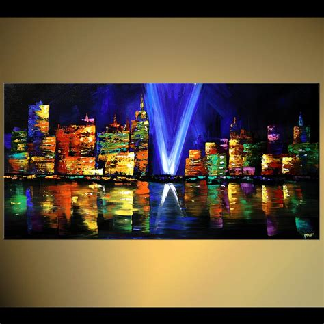 paint the nite nyc prints painting new york skyline at 6480
