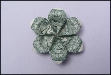 origami flower dollar bill 9 best images about money folding on image