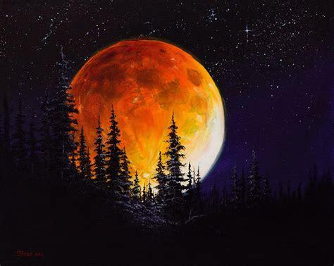 bob ross painting blue moon bob ross ettenmoors moon pinteres