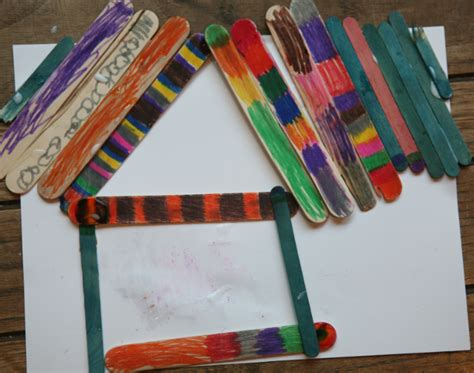 craft stick projects popsicle craft stick projects color these and use them to