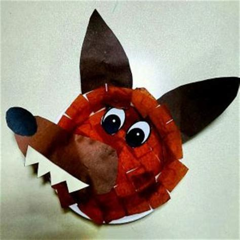 wolf paper plate craft recycled jungle animals craft idea for crafts and