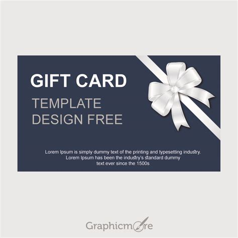 gift card designs gift card template design free vector file