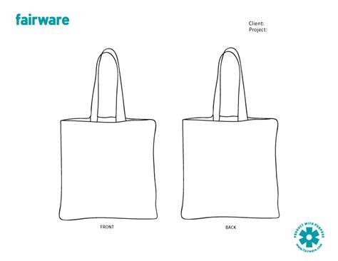 design template reusable tote bag fairware