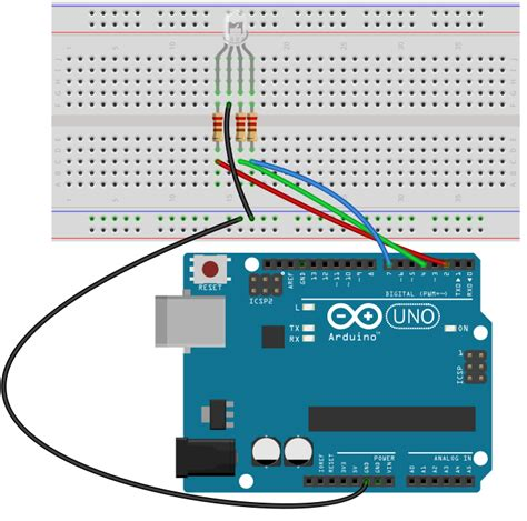 arduino led light how to build an rgb led circuit with an arduino