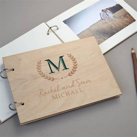 engagement picture guest book aliexpress buy personalised monogram wedding guest
