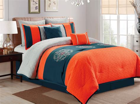 orange and blue comforter set blue and orange comforter sets home design