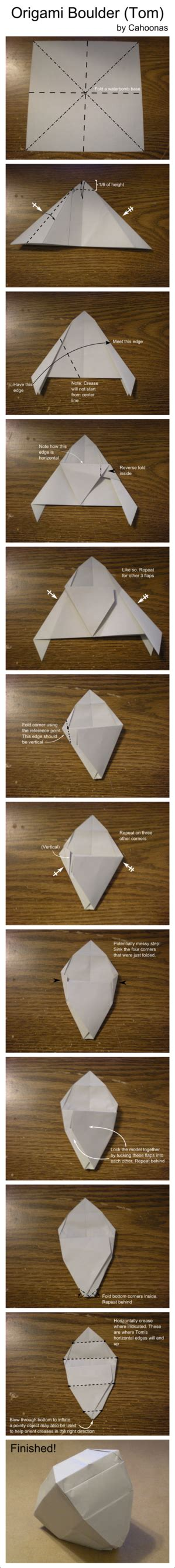 origami rock origami rock tom diagram by cahoonas on deviantart