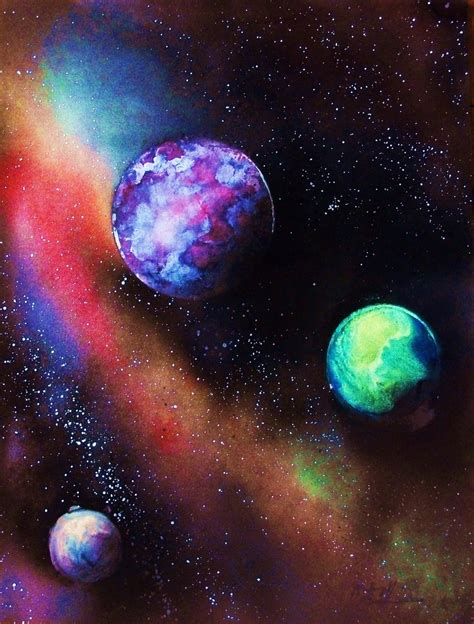 spray paint space space painting 3 chad labombarde collection theartistden