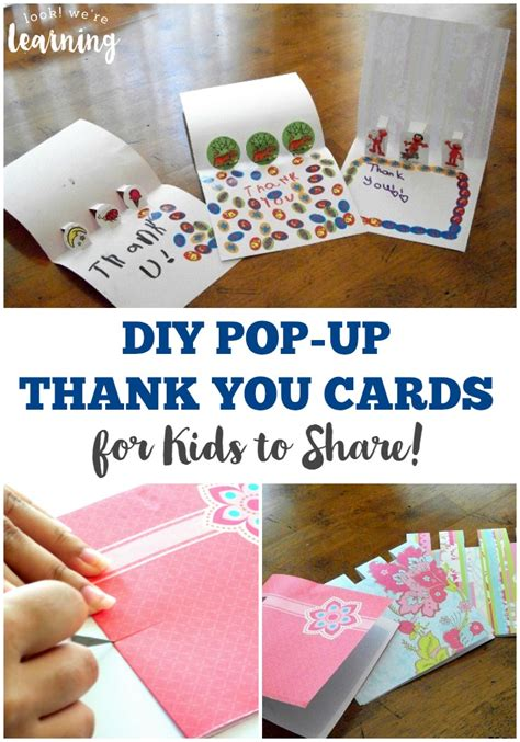 how to make pop up thank you cards diy pop up thank you cards look we re learning