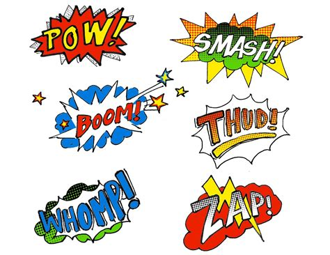 comic book picture effect pow smash thud ink