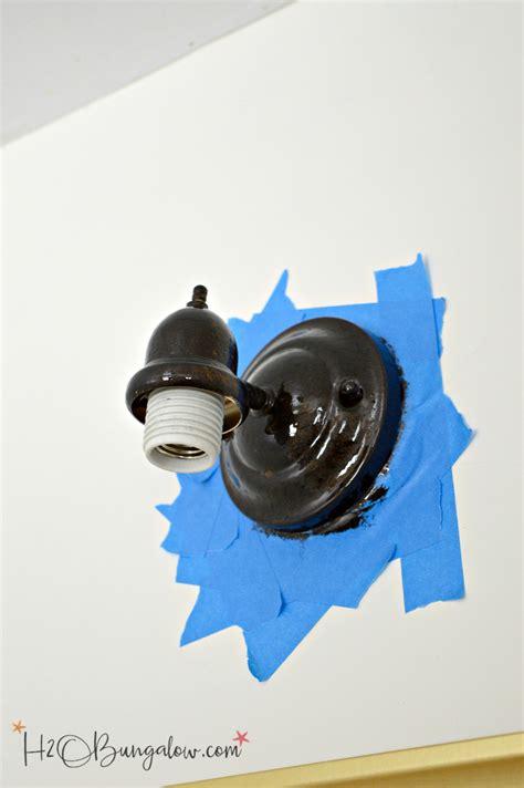 painting metal light fixture how to paint a metal light fixture h20bungalow