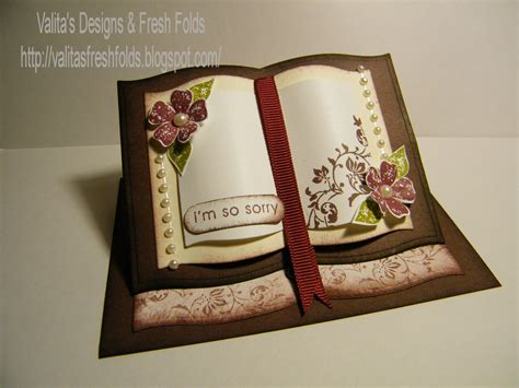 how to make an easel card valita s designs fresh folds how to make a book easel card