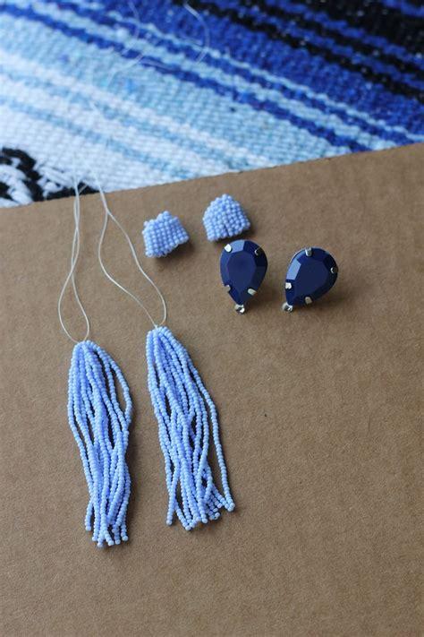 beaded tassel tutorial 17 best ideas about tassel earrings on