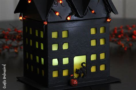 haunted house crafts for diy haunted house craft step by step crafts unleashed