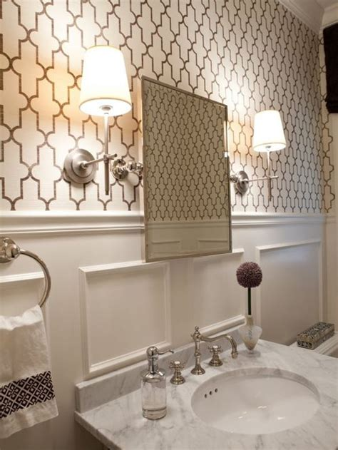 wallpaper bathroom designs best moroccan inspired wallpaper design ideas remodel pictures houzz