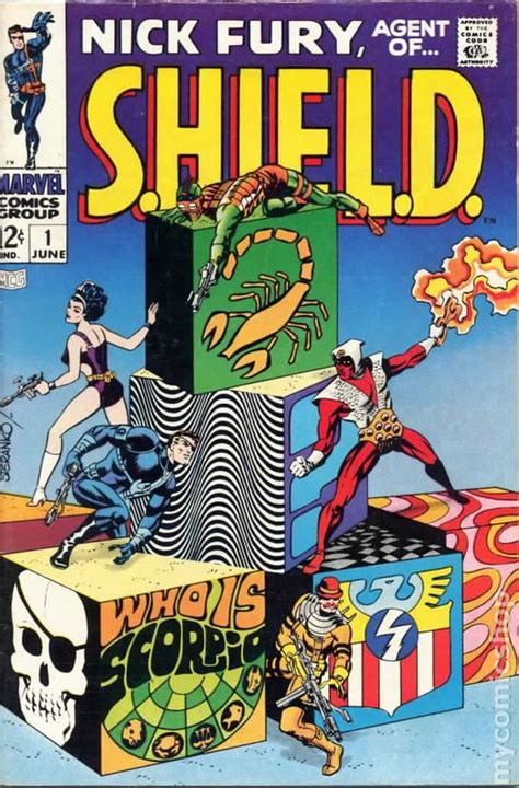 pictures of comic books nick fury of shield 1968 1st series comic books