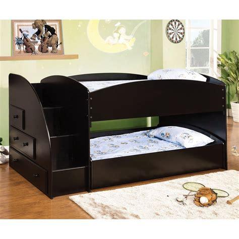 furniture of america bunk beds shop furniture of america merritt black