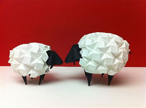 sheep origami most adorable origami creations for world origami day