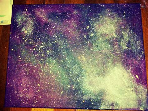 acrylic painting a galaxy my own galaxy painting using purple teal blue white