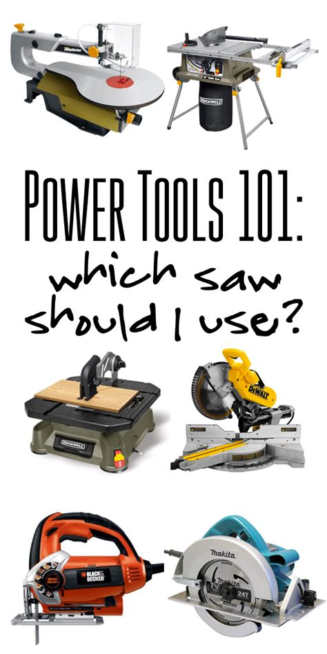 woodworking tools must power tools 101 which saw should i use