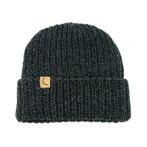 knit caps cotton knit cap usa made marled charcoal mollyjogger