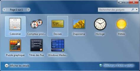 comment avoir des gadgets windows 7