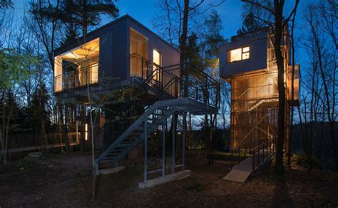 the modern tree modern treehouse retreat ideas