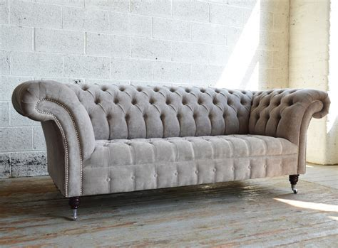 chesterfield 3 seater sofa naples velvet 3 seater chesterfield sofa abode