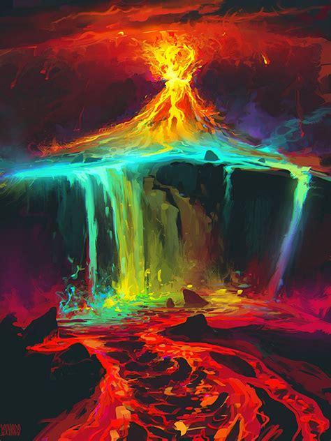 paint deviantart volcanoes in visual frontier scientists