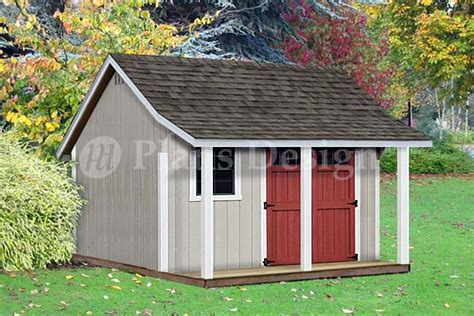shed with porch plans free 12 x 12 backyard storage shed with porch plans p81212