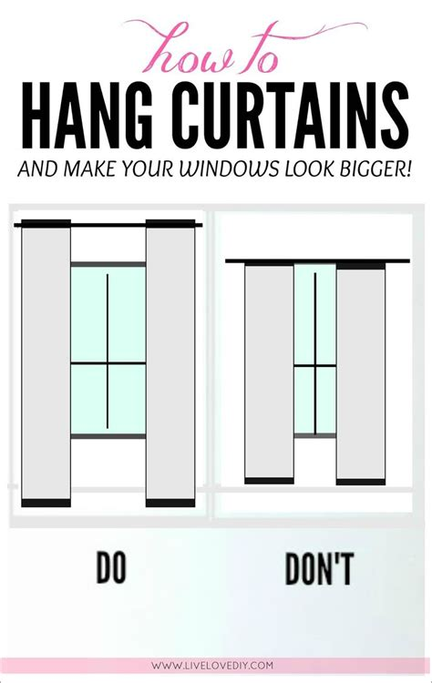how low should curtains hang 1000 ideas about hanging curtains on window