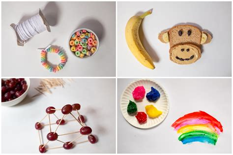 easy food crafts for food crafts for preschoolers