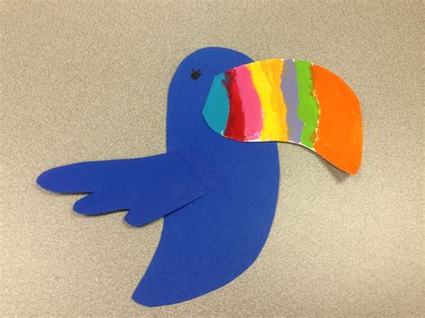 toucan craft for rainforest theme toucan craft www