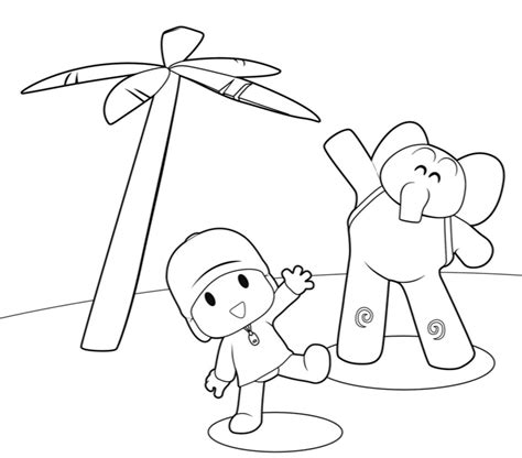 coloring book picture pocoyo coloring pages free printable coloring pages