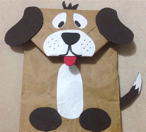 brown paper bag crafts for preschoolers puppet made from paper bag diy